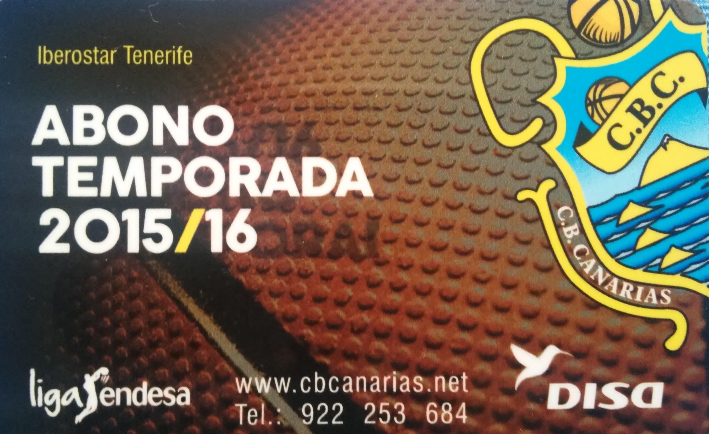 Abono del Club Baloncesto Canarias 2015-16