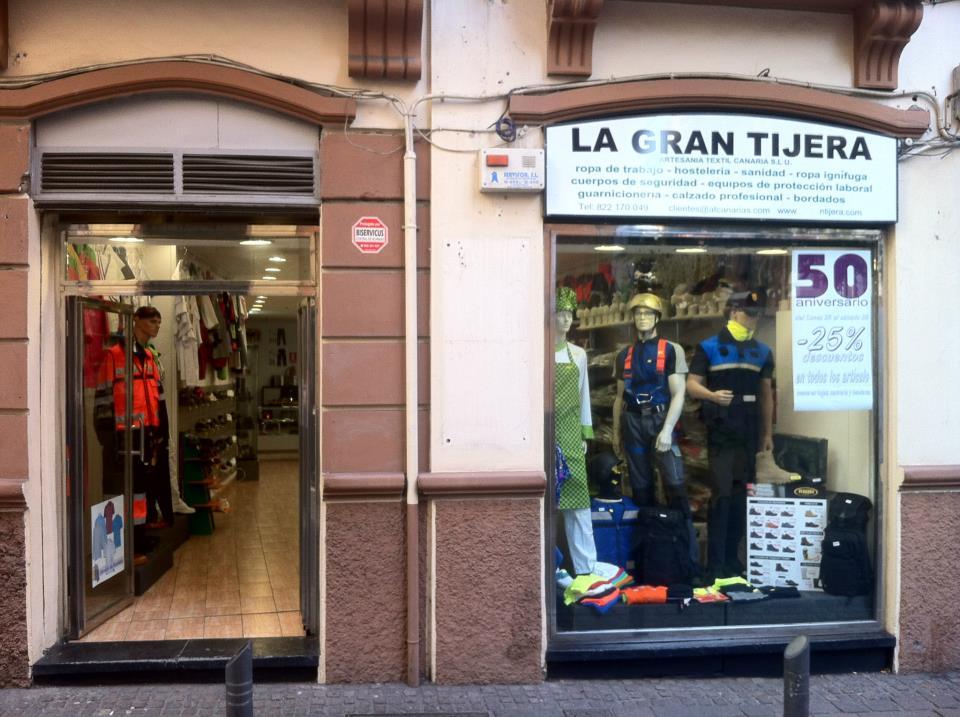 Imagen exterior de la tienda de La Gran Tijera ubicada en Santa Cruz de Tenerife