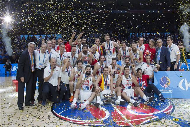 Equipo Nacional de España, campeona de Europa 2015