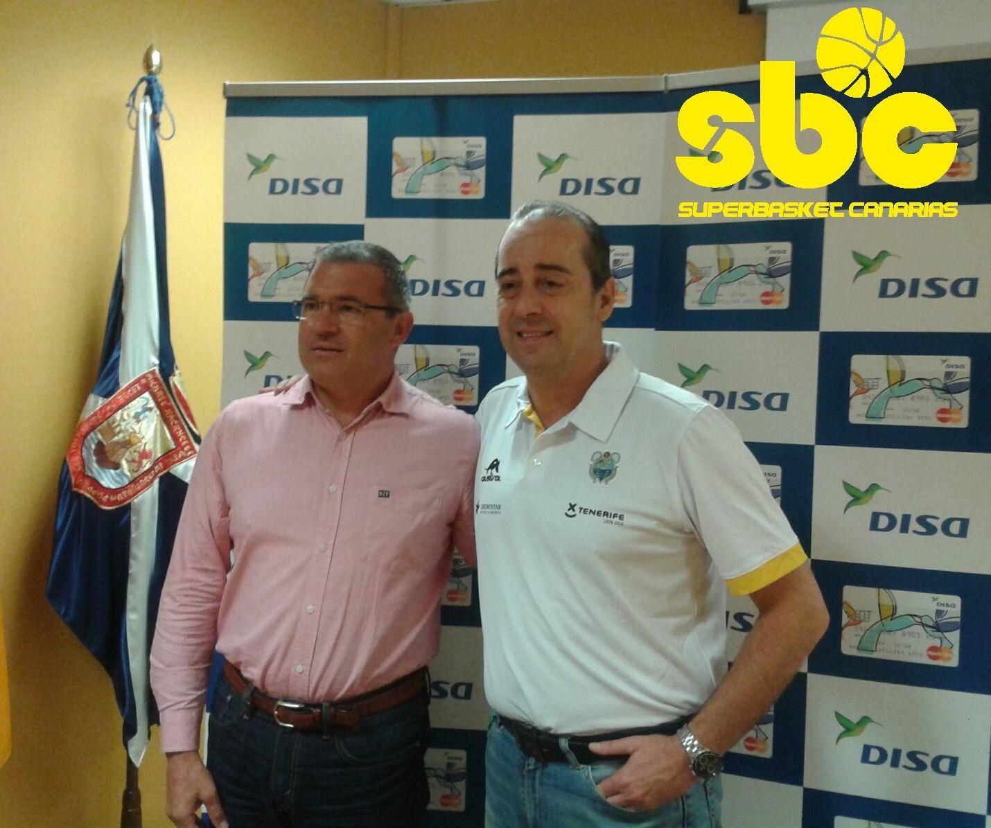 Vidorreta junto a Hernández, presidente aurinegro