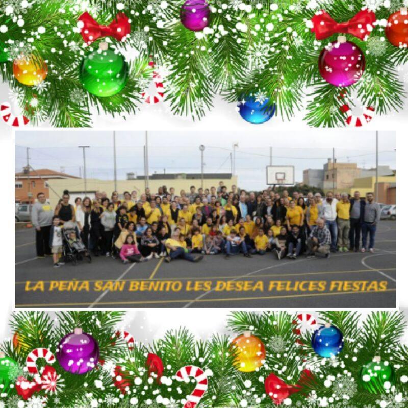 Postal de la Peña San Benito para felicitar la Navidad 2015