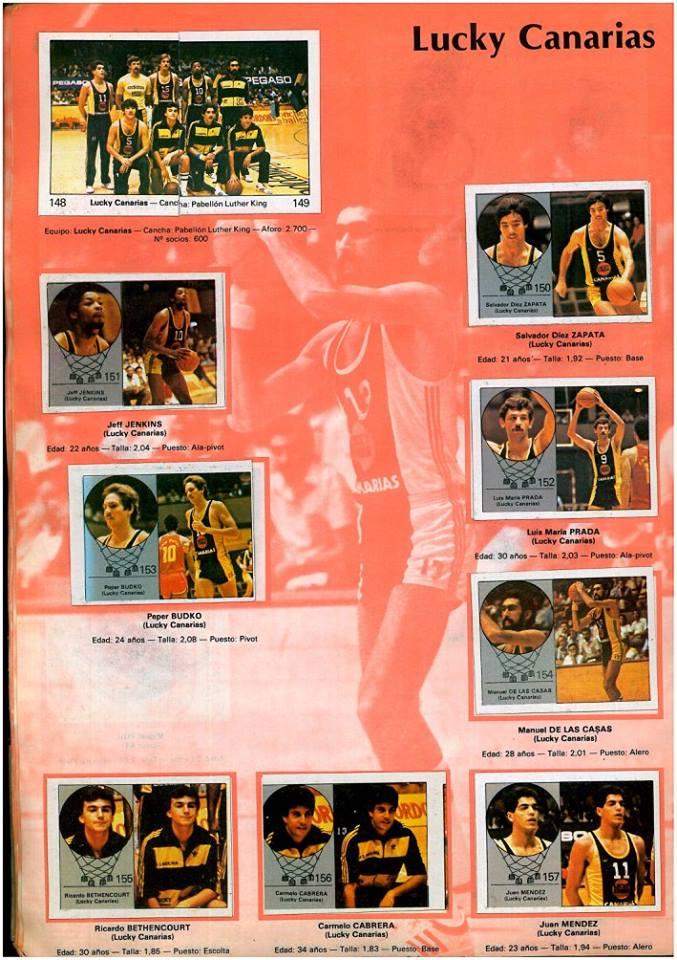 BALONCESTO 1984-85 LUCKYCANARIAS