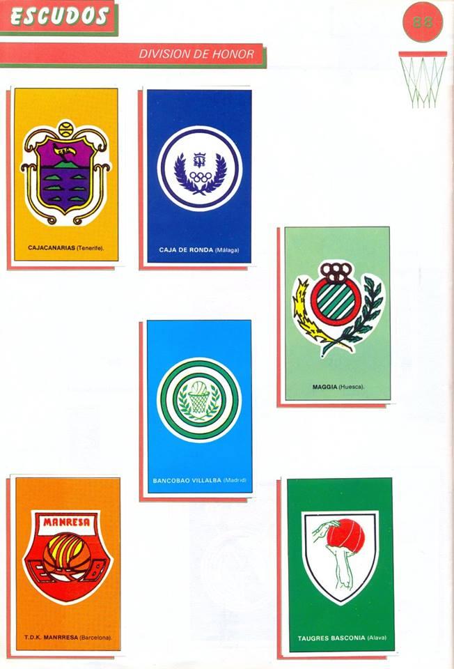 BALONCESTO 88. ESCUDO C. B. CANARIAS. TEMPORADA 1987-88