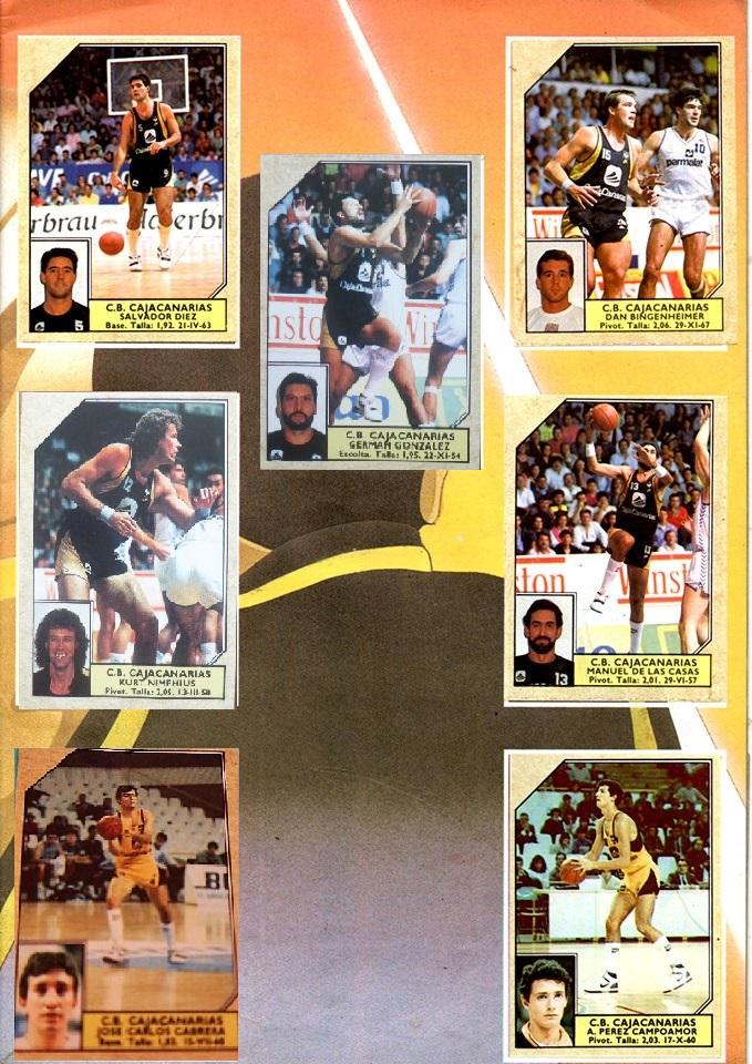 BALONCESTO 89. CAJACANARIAS 1988-89 (2)