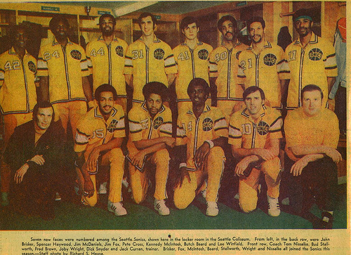 Seattle Supersonics, temporada 1972-73