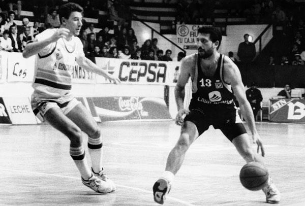 Germán González defendiendo la elástica aurinegra / Archivo SuperBasket Canarias