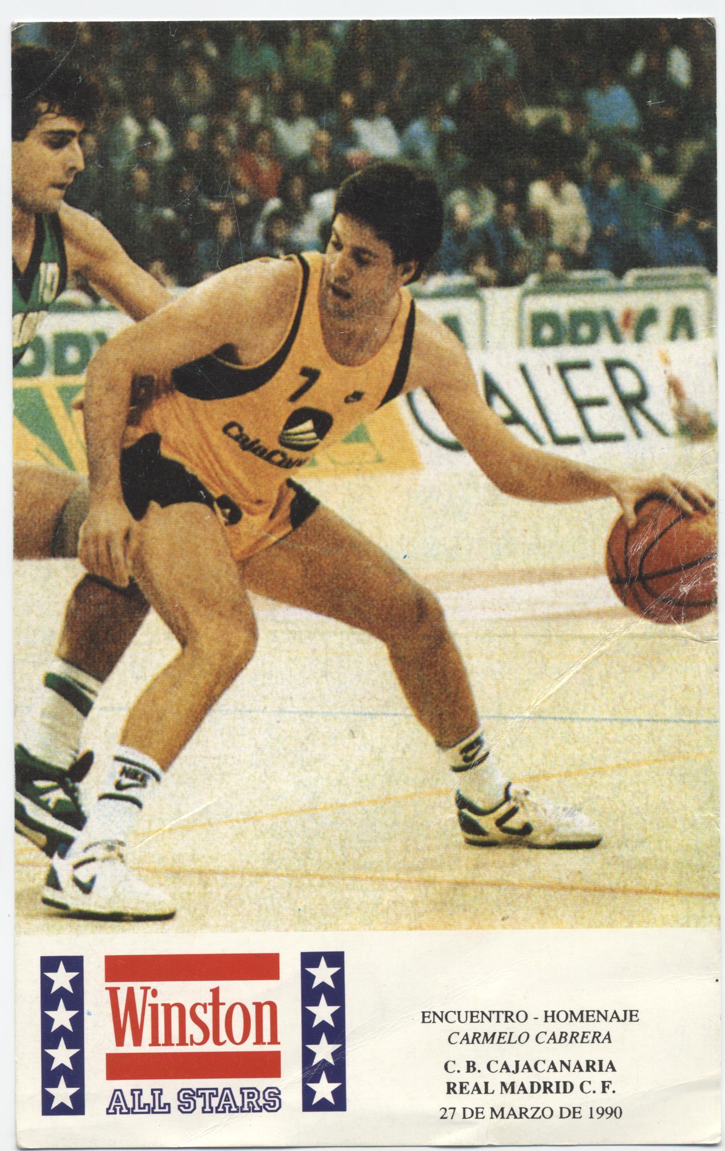 Cartel del partido Homenaje a Carmelo Cabrera / Archivo SuperBasket Canarias