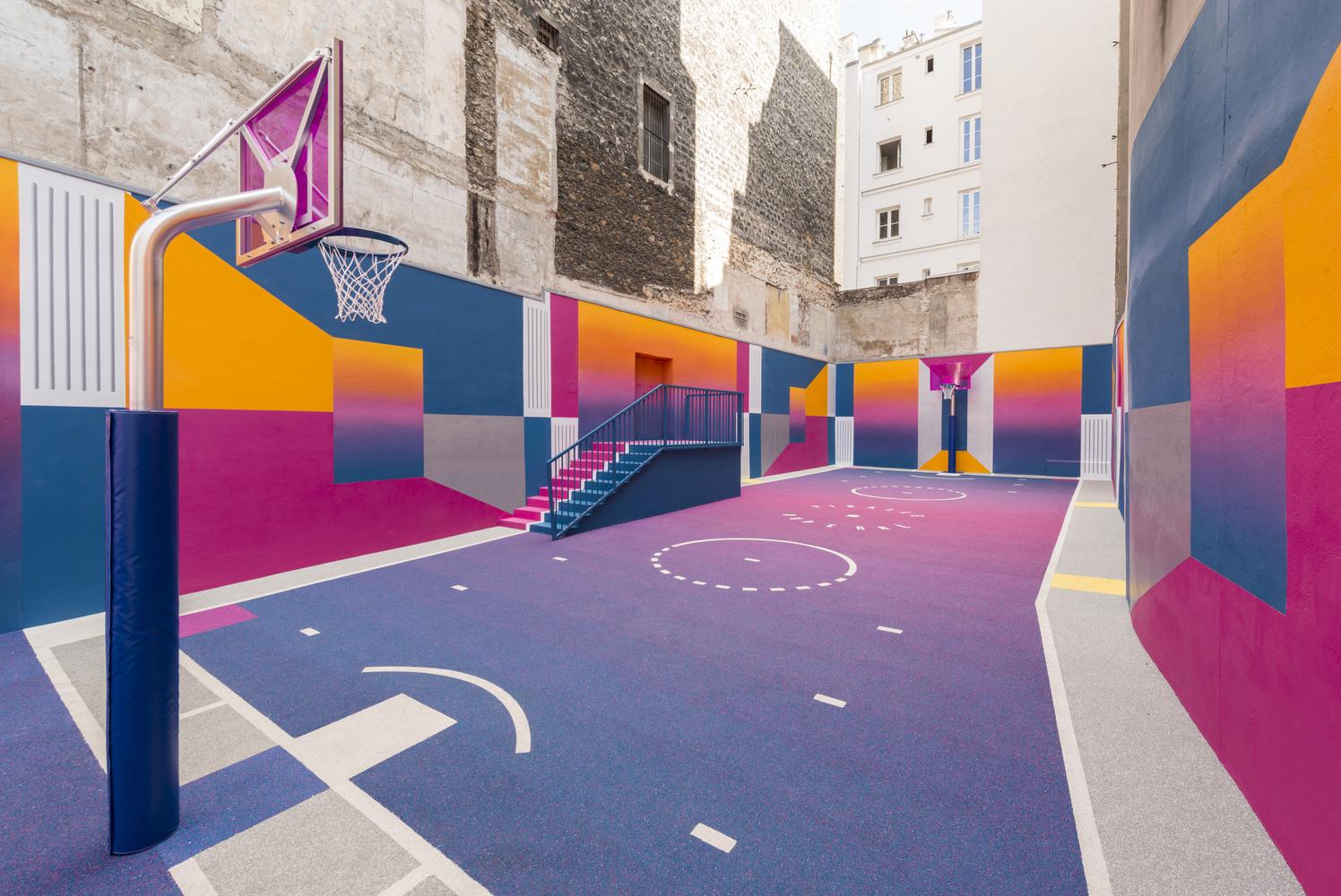 Imagen actual de la cancha de la Rue de Duperrè / Fotos: SuperBasket Canarias