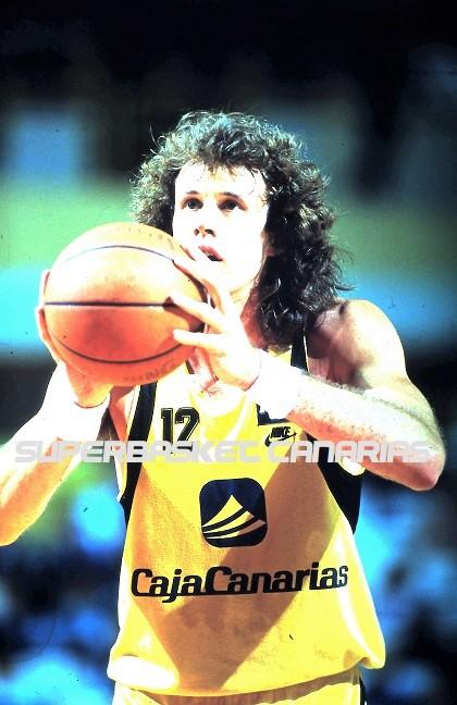Kurt Nimphius con la camiseta del Canarias. Temporada 1988-89 / Archivo José Luis Hernández