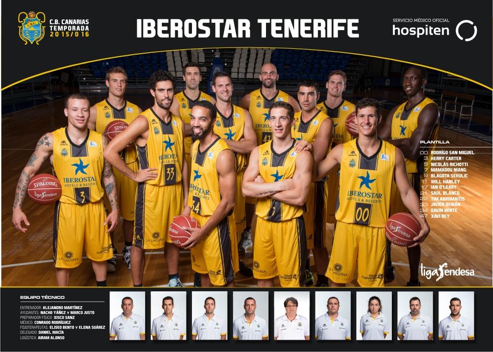 Póster oficial del Club Baloncesto Canarias 2015-16