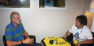 Pepón Artiles en una entrevista con José Luis Hernández / Foto: SuperBasket Canarias